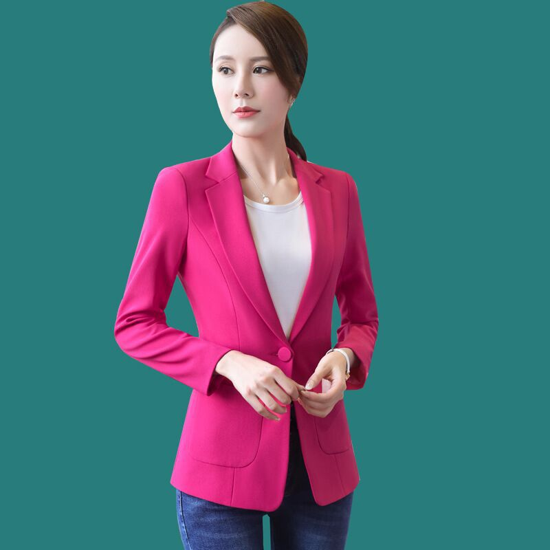 Courte Tempérament Et D'hiver Longues Nouvelle Officiel Personnalisé D'affaires Des Mode À Color Femmes Manches Card Costume Veste De Automne RqvHnw6I