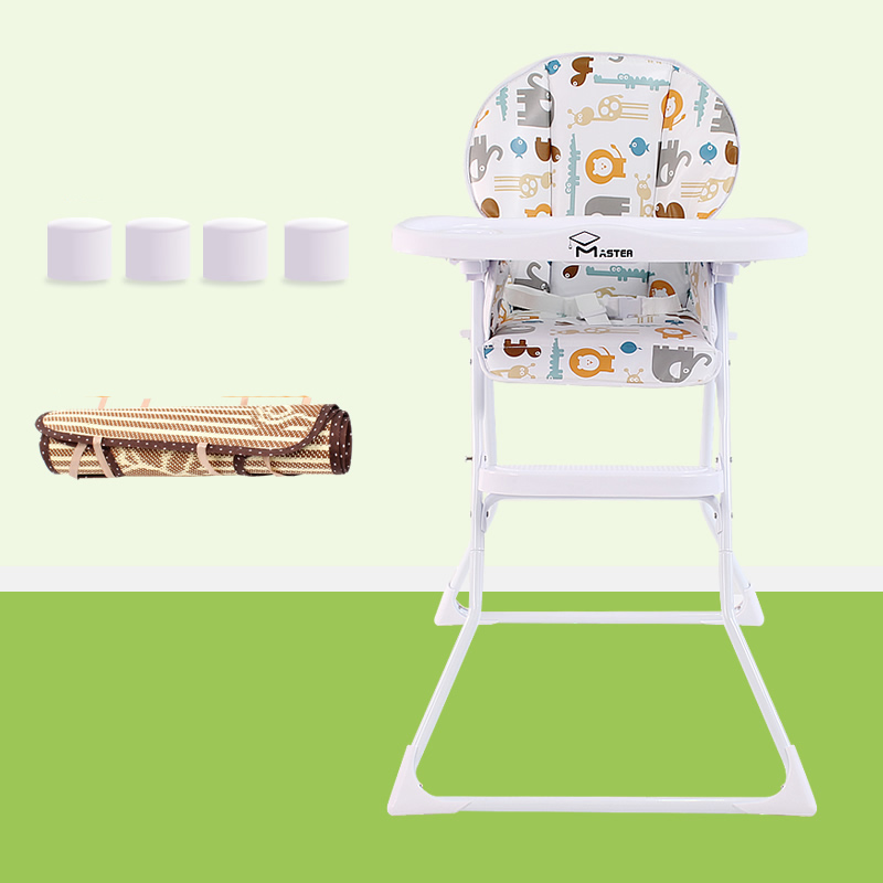 Portable Baby Kids High Chair Seat Adjustable Foldable Baby Eating