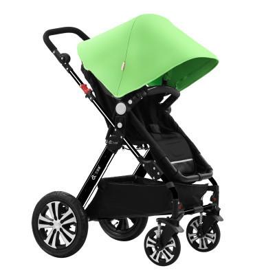 Amortecimento dobre stroller alta paisagem de duas vias portátil crianças pode sentar-se pode mentir o bebê carrinho de bebê carrinho