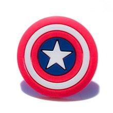 2 шт., аксессуары для обуви Капитан Америка, аксессуары для обуви, браслеты croc jibz, лучший подарок для украшения обуви, детский подарок