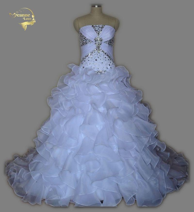 Real Photo Cheap Price Best Quality A Line Strapless Wedding Dresses 2019 Ruffles Vestidos De Noiva Crystals Casamento UY1379