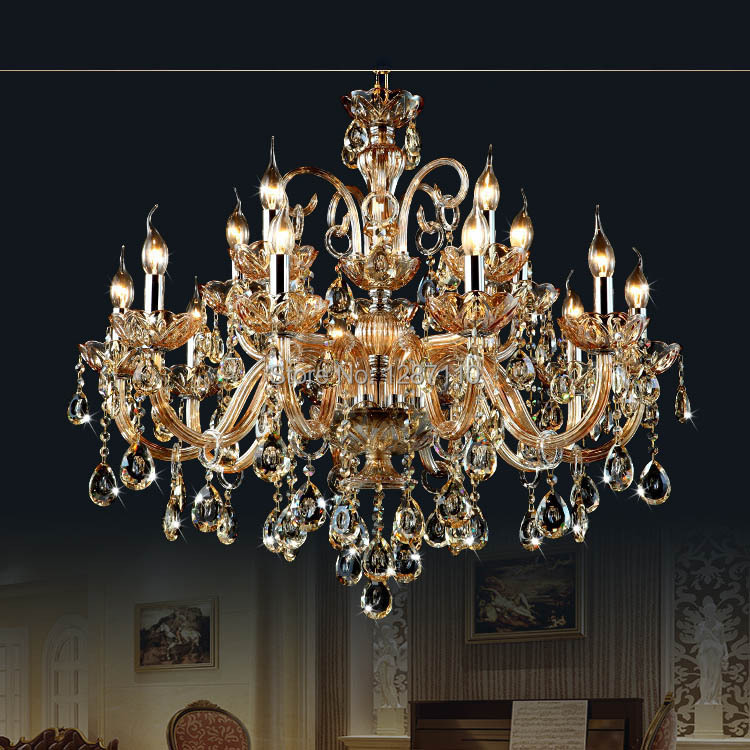 15 arms crystal chandelier lamp light lustres de cristal decoration tiffany chandeliers crystal lustre for home - Tiffany Chandelier