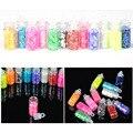 100 unids Brillo Del Arte Del Polvo del Polvo Consejo Rhinestone Mini Botella de Uñas de Manicura Herramientas de Belleza Accessorie