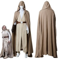 2018 Star Cosplay Wars 8 The Last Jedi Luke Skywalker Cosplay Costume Robe Halloween Carnival Costume For Adult Men