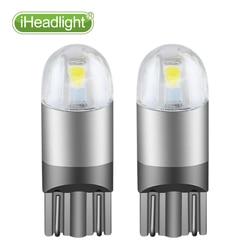 2 pièces T10 LED 12 v voiture clignotant chambre lampe voiture lecture ampoule blanc LED largeur lumière W5W 194 168 Wedge 2smd 3030 LED voiture