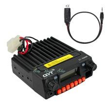qyt kt-8900r walkie talkie transceiver vhf car radio station KT 8900R Mini mobile radio 136-174/240-260/400-480Mhz + usb cable