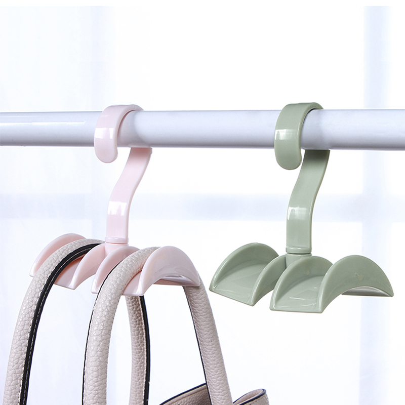 050 Home Multi Bag receptacle 360 degree rotatable closet hanger storage rack 12 10cm in Storage Holders Racks from Home Garden