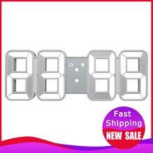 Время Большой светодиодный цифровой настенные часы будильник Дата температура автоматическая подсветка стол домашние декоративные часы стенд Висячие часы