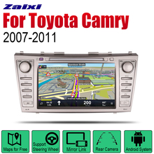 ZaiXi Android 2 Din Auto Radio DVD For Toyota Camry 2007~2011 Car Multimedia Player GPS Navigation System Radio Stereo liislee for toyota caldina t240 2002 2007 radio cd dvd player