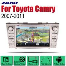 ZaiXi Android 2 Din Auto Radio DVD For Toyota Camry 2007~2011 Car Multimedia Player GPS Navigation System Radio Stereo стоимость