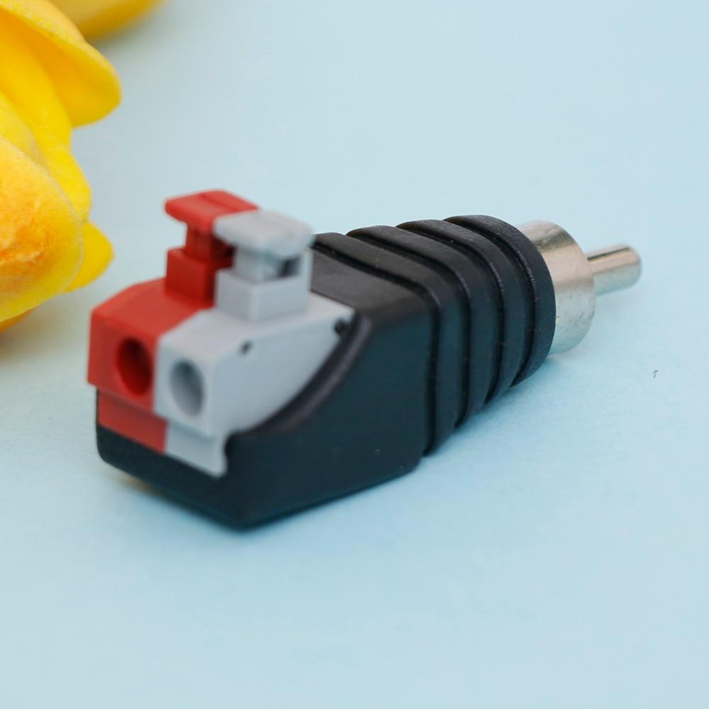 Aliexpress.com : Buy New RCA Press Plug Male Adapter Connector ...