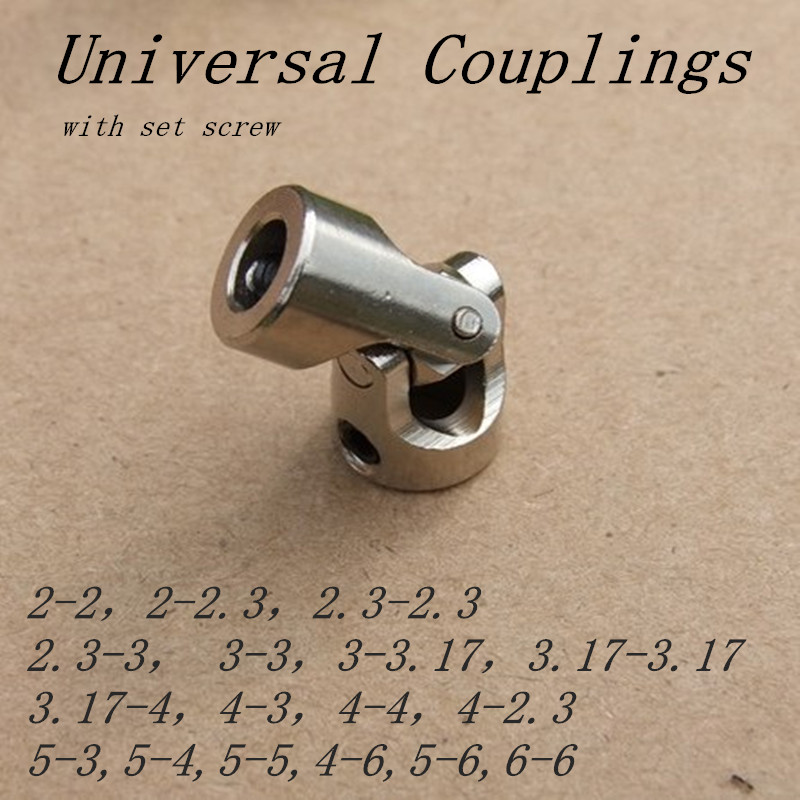 1pc 2mm/2.3mm/3mm/3.17mm/4mm/5mm/6mm Car Boat Model Universal Coupler Joint Coupling Steel Shaft Connector Crossing rc car boat model universal coupler joint coupling steel shaft connector model diy motor shaft fitting accessory