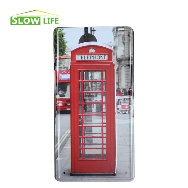London Telephone Booth Metal Tin Sign Wall Decor Metal Plaque ...