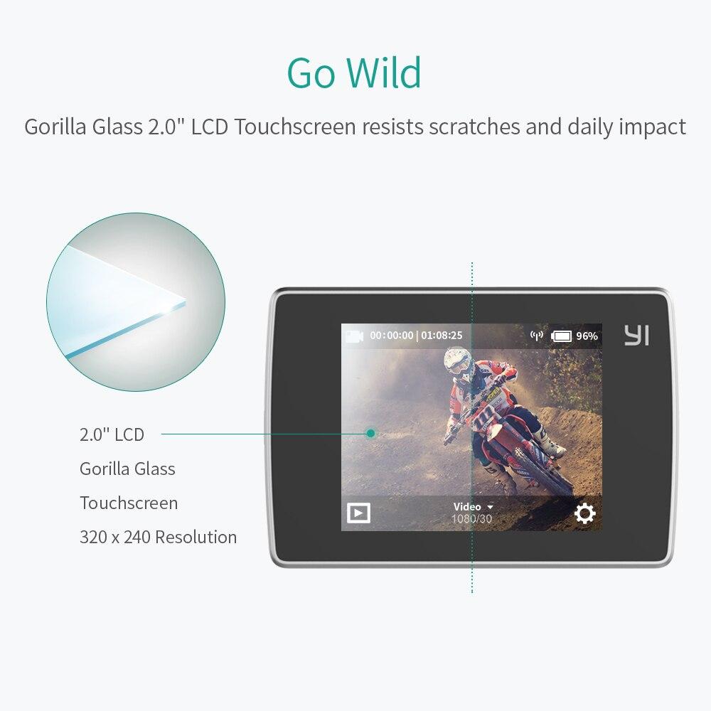 YI Lite caméra d'action 16MP Réel 4 K Sport Caméra avec WIFI Intégré 2 Pouces écran lcd 150 Degrés Objectif Grand Angle noir - 3