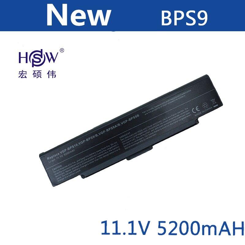 Batterie d'ordinateur portable HSW pour Sony VGP-BPS9/B VAIO BPS9 VGP-BPS9 VGP-BPS9A/B VGP-BPS9/S batterie d'ordinateur portable batterie VGN-AR53DB VGN-SZ76