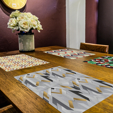 1Pcs Creative Geometric Pattern Kitchen Placemat Dining Table Mat Drink Coaster Cotton Linen Pad Cup Home Decor Aid