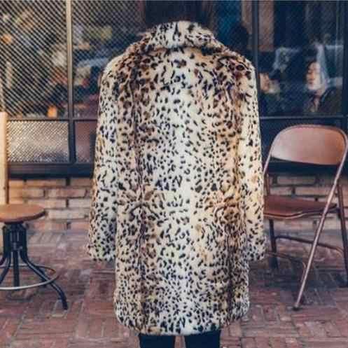 Пушистые женские шубы из искусственного меха с леопардовым принтом 2019 зима vetement femme из искусственного меха куртки Винтаж имитация норки пальто меховые пальто J102