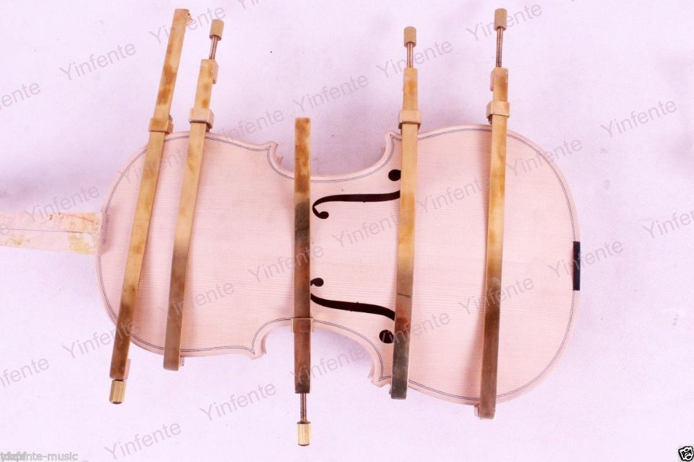 5pcs Violin Tool,brass repair crack plate-type clamp,Luthier tool 200x200x1 5mm high tenacity brass plate building repair computer tools pcb brass thin slice brass paper plate 1 piece