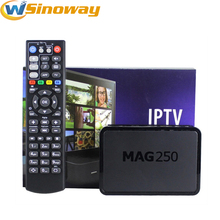 5pcs Linux tv box MAG 250 Linux2.6.23 perating System without IP tv server support USB wifi update no die MAG250 set-top box