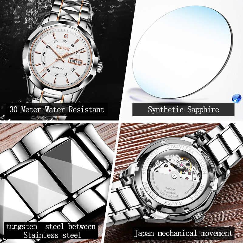 JSDUN frauen uhren Herren Uhren Top brand Luxus Mechanische Paar Uhr relogio masculino feminino Wolfram stahl Wasserdicht