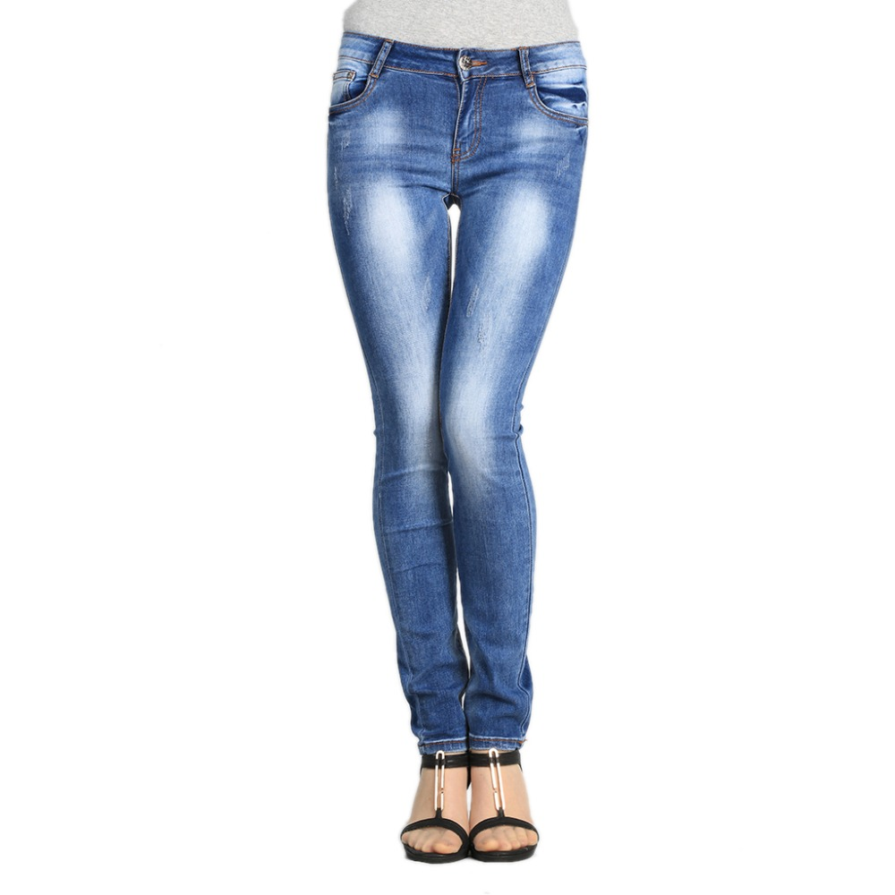 SheXiang Mrs 2016 Women Jeans For Woman Gradient Skinny Jeans Slim Female Denim Pants Lady Trousers Plus Size Stretch Jeans W213