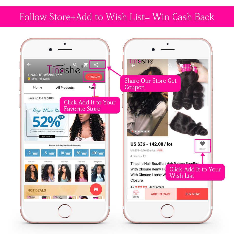 Tinashe Hair Brazilian Hair Weave Bundels 10-28 Inch Remy Menselijk Haar Bundels Te Koop Natuurlijke Kleur Diepe Golf bundels