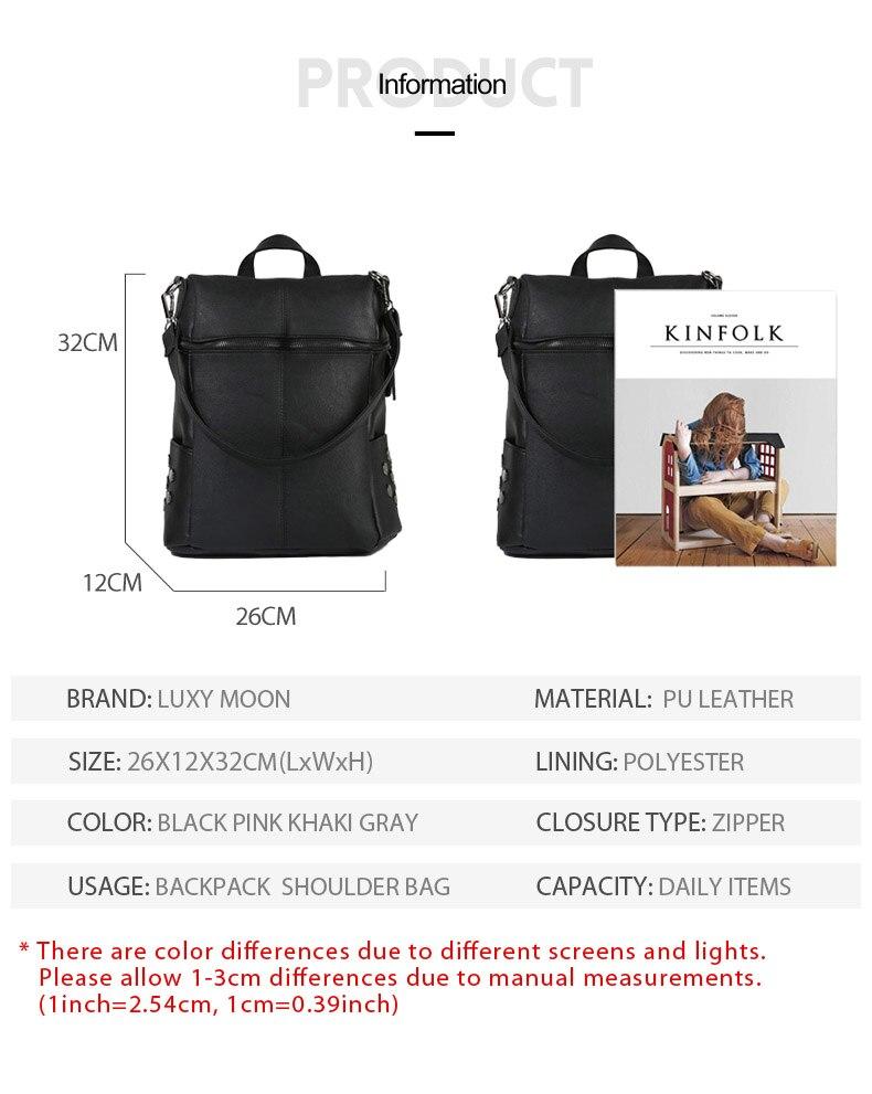 HTB1oam3d21H3KVjSZFBq6zSMXXab Simple Style Backpack Women Leather Backpacks For Teenage Girls School Bags Fashion Vintage Solid Black Shoulder Bag Youth XA568