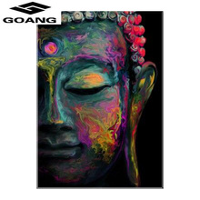 GOANG Religion Mosaic DIY diamond Painting crystal Buddha 3D Cross Stitch Decorative embroidery square Rhinestone GA516