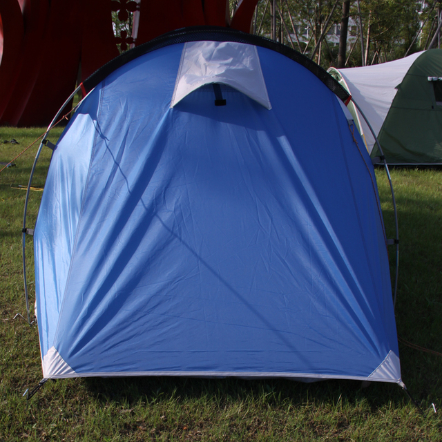 Outdoor 3-4persons Camping tent one bedroom & one living Room Double Layer Tunnel Large Family Party tent  Star Home Brand