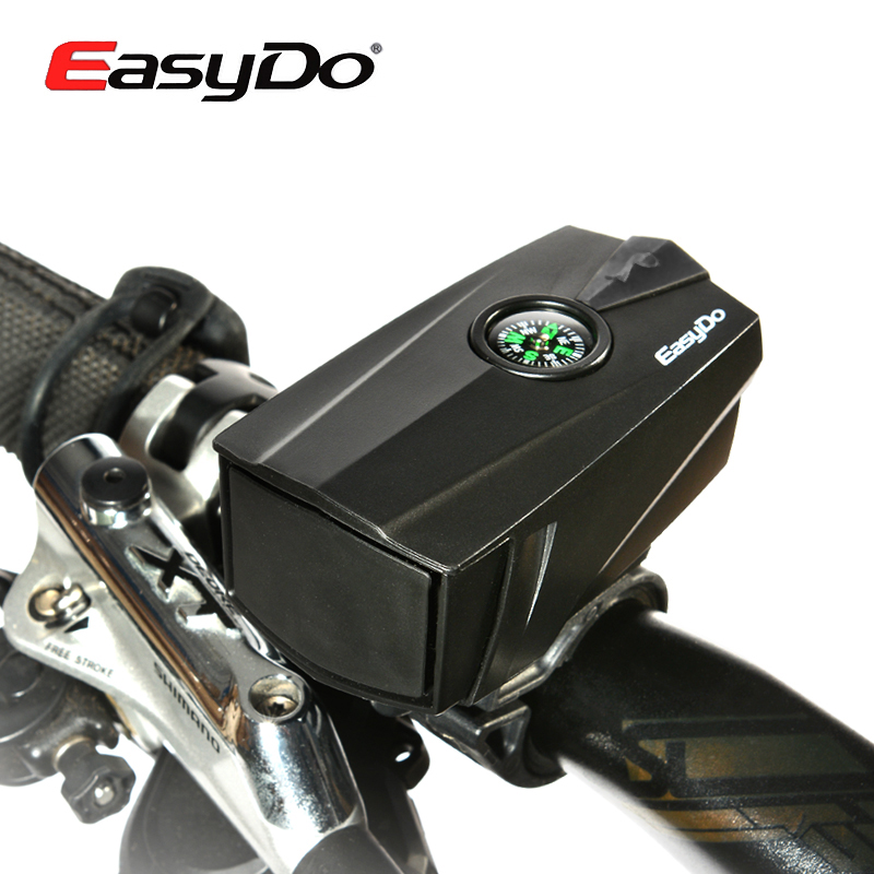 Easydo Compass Cycling Electronic Horns Bell 140db Bike Handlebar Ring Bell Horn Loud Air Alarm Bell Safe MTB Sound Bicycle Horn