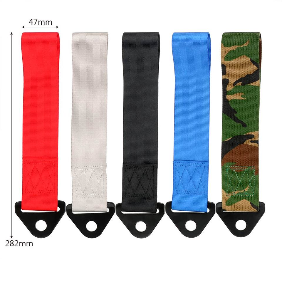 Trailer Rope Professional Shackle 5 Color Emergency Vehicle Universal Strap Tow for Car Camouflage
