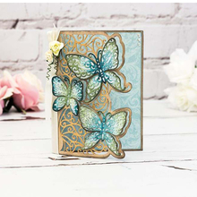 Butterfly Wing Lace Edge Border Frame Metal Cutting Dies Stencils For DIY Scrapbooking Decoration Embossing Card Craft Die Cut