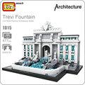 Loz mini blocos fontana di trevi kit modelo de brinquedos educativos para crianças blocos de construção arquitetura crianças brinquedos de montagem diy 1015