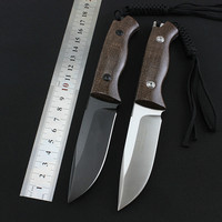 High quality FX DAG fixed stone wash D2 blade linen handle tactical hunting knife outdoors camping survive knives & K sheath