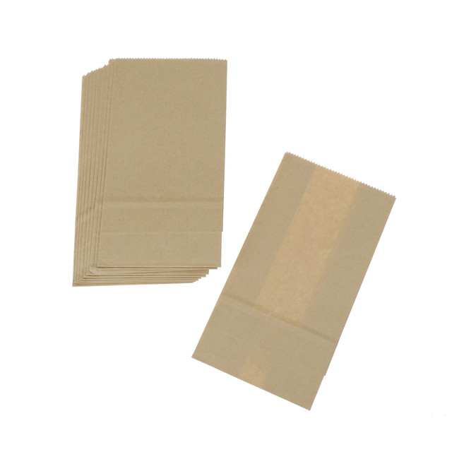 10pcs Brown Kraft Paper bag Gift Bags packing Biscuits candy Food raft bread Cookie Bread Nuts Snack Baking Package