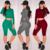 Verão Sexy mulheres Jumpsuit Romper Playsuit Fino OL Longo Bodaycon bandage manga Longa Noite Clube Duas Peças Outfits Bodysuit