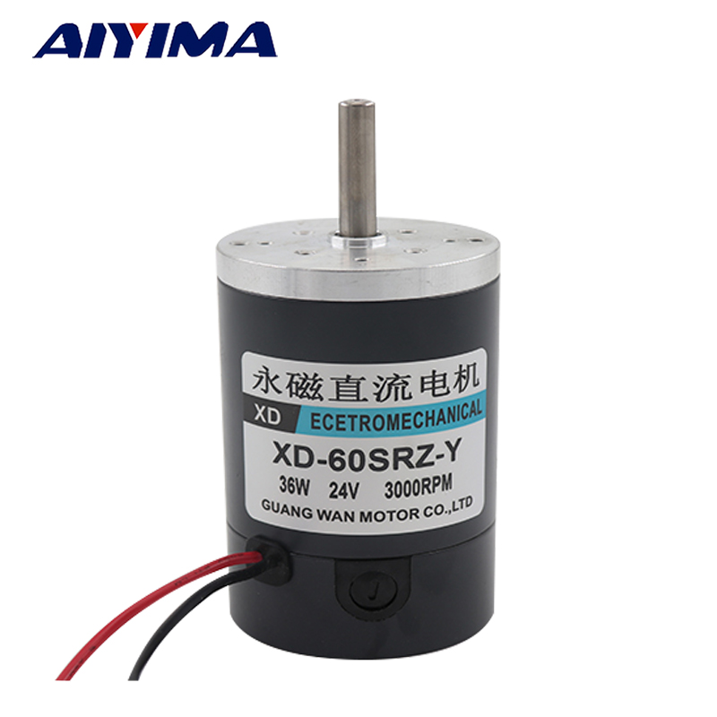 Aiyima 36W Miniature Permanent Magnet DC Motor 12V Speed Motor 24V Cotton Candy Small Motor High Speed Brush Motor