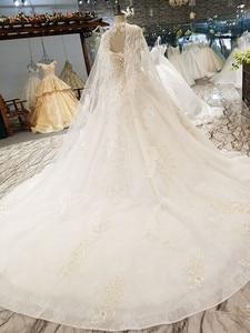 Image 3 - LS54799 ยาว Cape งานแต่งงานชุดสร้อยคอ off ไหล่ sweetheart HOT ขายเจ้าสาวชุดแต่งงาน vestido de noiva blato Baro