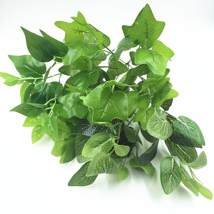 Nový umělý falešný květ zelený list okrasné rostliny Ředkvičky sladké bramborové listy