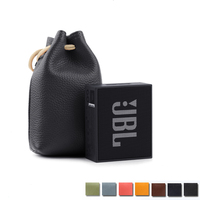 New Column Speaker Portable Storage Travel Carrying Bag Case for JBL Go Wireless Bluetooth Speaker Protective Leather Carry Box