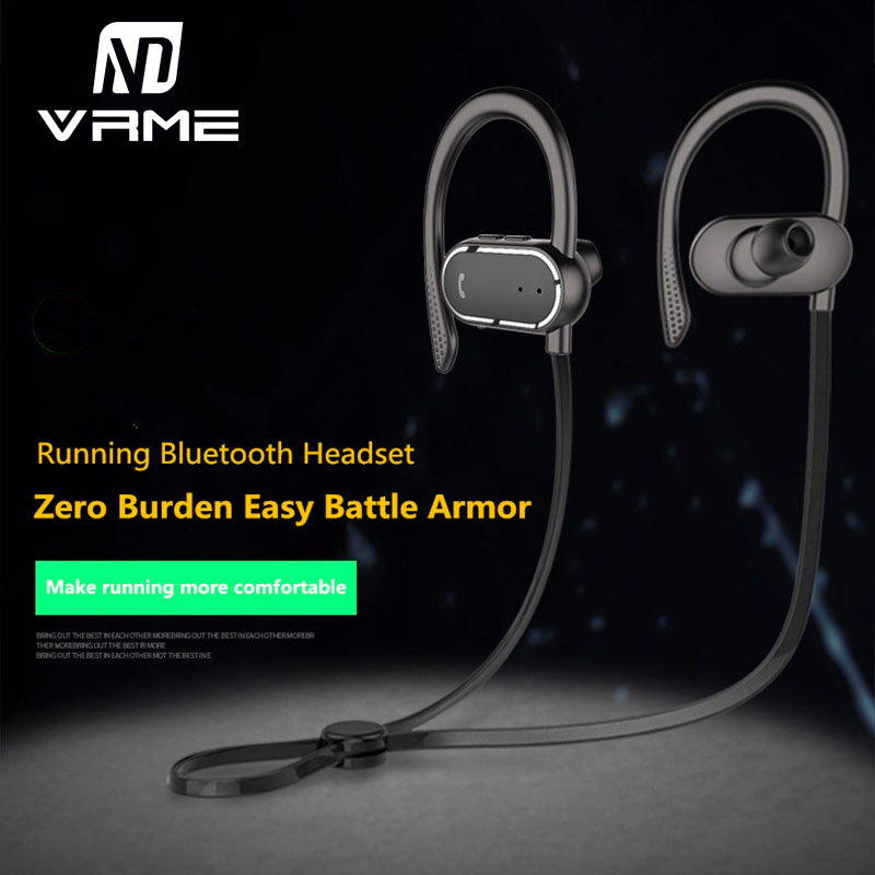 APP Bluetooth Headphone Newest Wireless Sport Music Headset HD Sound Sweatproof Earphone with Microphone for iPhone 8 7 6 Xiaomi