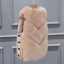 2019 New Fashion Faux Fur Coat Winter Coat Women Waist Coat Fur Gilet Women's Fur Jacket Fur Vest For Ladies