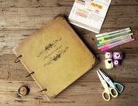 Art Leather Journal (handmade) Instagram Photo Album Scrapbook/ Wedding Guestbook