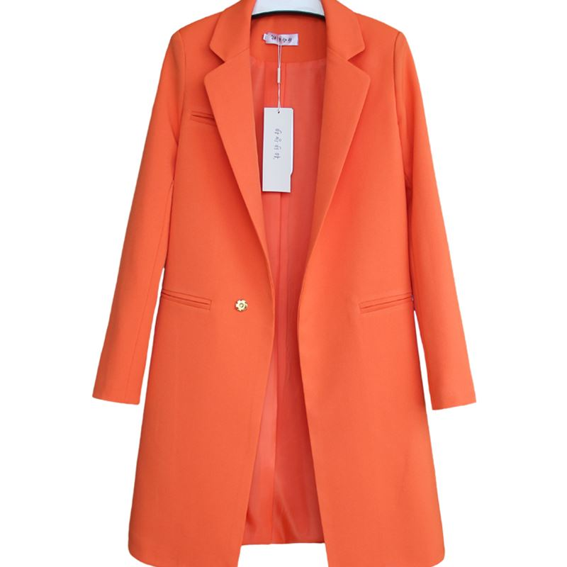 High quality hot womens cardigan and jacket spring and autumn casual long womens suit wide waist real health womens jacket