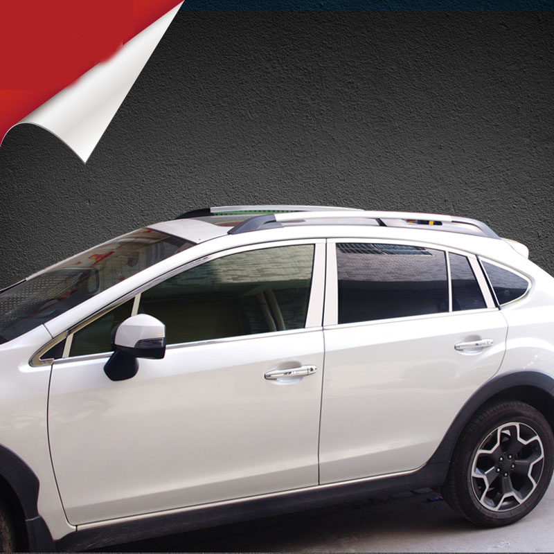 lsrtw2017 304 stainless steel car window trims for subaru xv 2012 2013 2014 2015 2016 2017 4th generation new arrival for lexus rx200t rx450h 2016 2pcs stainless steel chrome rear window sill decorative trims