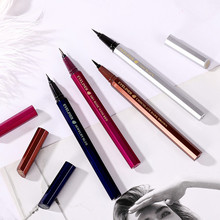 цена Waterproof Eye Brow Eyeliner Liquid dark brown Eyebrow Pen Eyebrow Pencil Makeup Cosmetic sapphire blueTools Hot
