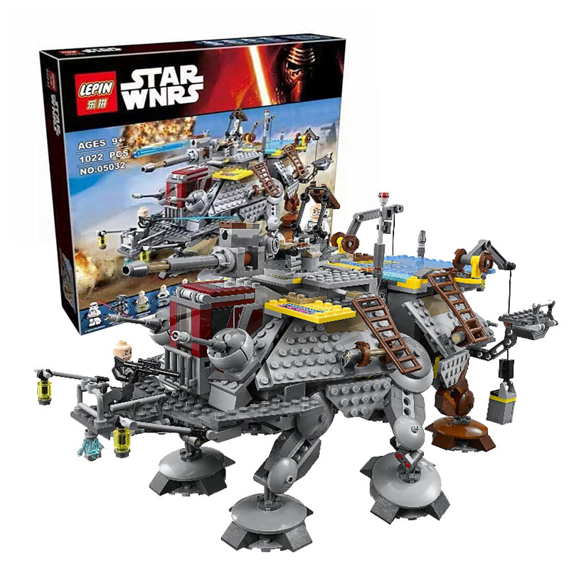 LEPIN 05032 Star Wars Rex's AT-TE Model building kits compatible with lego city 3D blocks Educational toys hobbies for children lepin 02025 city the high speed racer transporter 60151 building blocks policeman toys for children compatible with lego