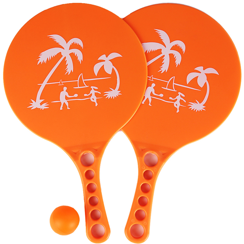 1 Pair Plastic Matkot Paddle Israeli Paddle Ball- Beach Tennis -Pro Kadima Child Favorite Hot Toys Kids Outdoor Fun Toy Sport