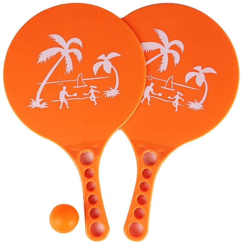 1 Pair Plastic Matkot Paddle Israeli Paddle Ball- Beach Tennis -Pro Kadima Child Favorite Hot Toys Kids Outdoor Fun Toy Sport