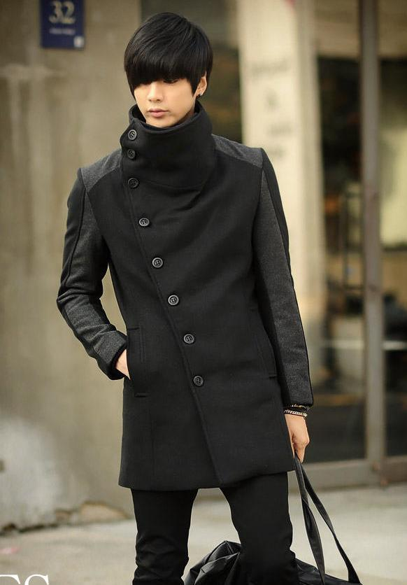 Cheap winter coats for men's 2019 cashmere clothing wool   trench   coat long design thermal cashmere coat slim casual outerwear 3XL